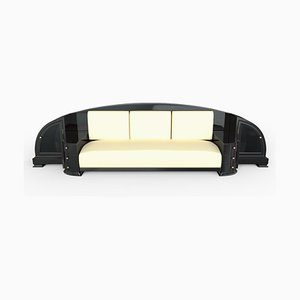 Art Deco Black Sofa