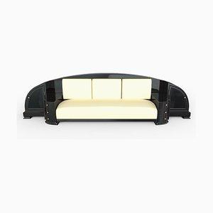 Schwarzes Art Deco Sofa