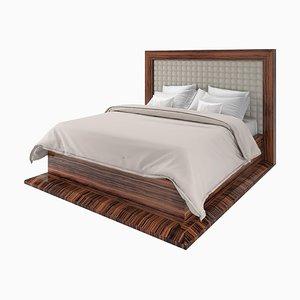 Art Macassar Bett im Art Deco Stil