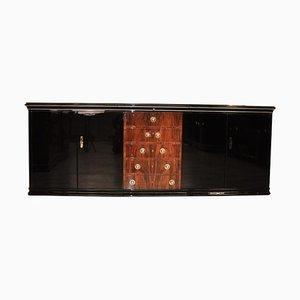 Großes Art Deco Sideboard mit Schubladen aus Nussholz