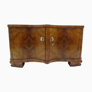 Kleines Art Deco Walnuss Furnier Sideboard