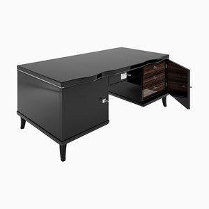 Art Deco Schreibtisch mit Macassar Schubladen