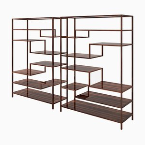 Macassar Design Shelves, Set of 2