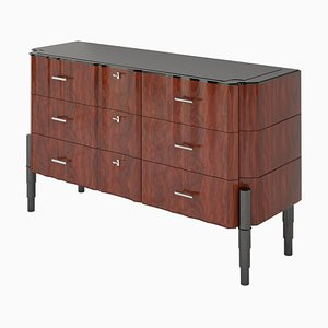 Art Deco High Gloss Walnut Chest of Drawers