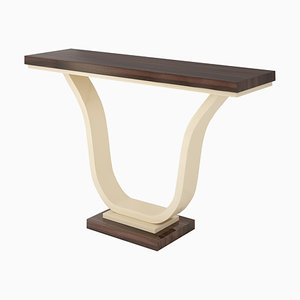 Macassar and Ivory Lacquer Console Table