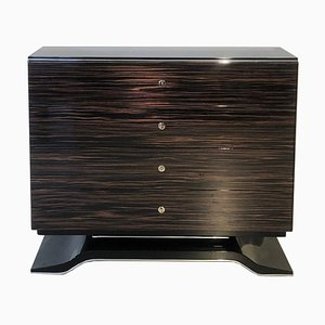 Macassar Curved Foot Chest of Drawer
