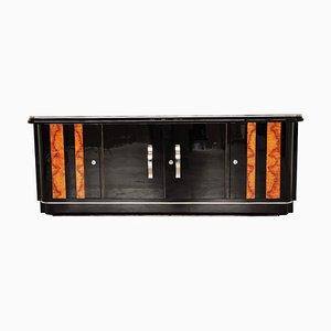Art Deco Piano Lacquer and Walnut Lowboard