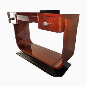 Large Art Deco Mahogany Console Table