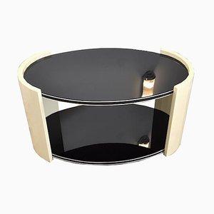 Ovaler Art Deco Couchtisch