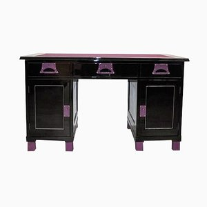 Art Deco Black and Lilac Ladies Desk