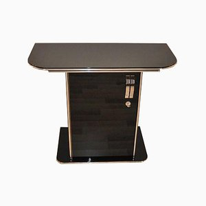 Art Deco Black Chromed Console Table