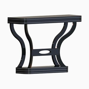 Art Deco High Gloss Black Console Table