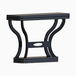 Art Deco High Gloss Black Console Table