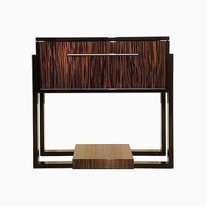 Small Art Deco Style Macassar Bar Cabinet
