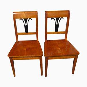 Stühle im Biedermeier Stil, 2er Set