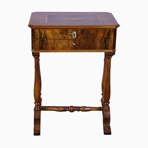 Antique Biedermeier Marquetry Sewing Table
