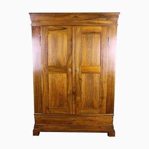 Biedermeier Walnut Wardrobe Cabinet