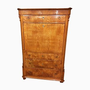 Antique Biedermeier Ash Inlay Folding Secretaire