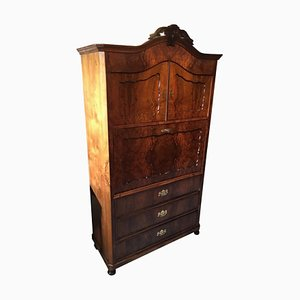 Antique French Louis Philippe Walnut Veneer Secretaire