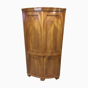 Antique Biedermeier Ash Corner Cupboard, 1840s