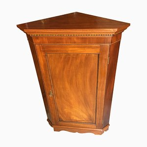 Antique Arts & Crafts Brown Mahogany Corner Cabinet