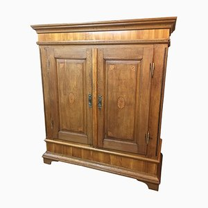 Antique German Baroque Oak Ornamental Cabinet