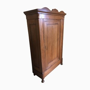 Antique German Biedermeier Softwood Cabinet, 1855