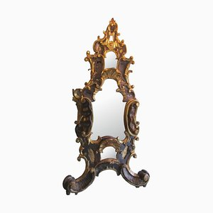 Antique Baroque Basswood Table Mirror