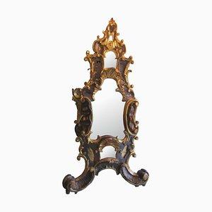 Specchio da tavolo antico in legno barocco