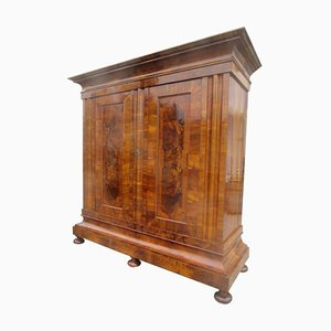 Antique Swiss Baroque Wave Cabinet, 1770s
