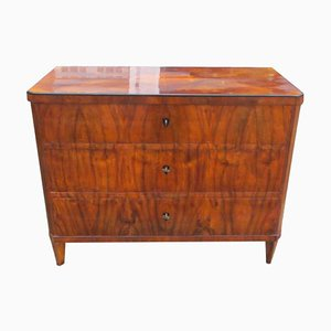 Antique Biedermeier Walnut Commode