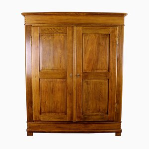 Antique Biedermeier Oak Cabinet, 1850s