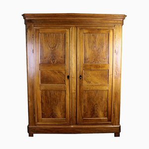 Antique Biedermeier Walnut Wardrobe