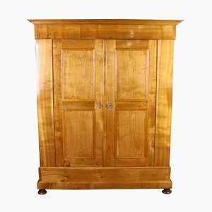 Antique German Biedermeier Cherry Cabinet or Wardrobe