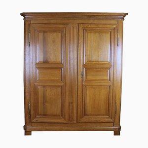 Antique Biedermeier Oak Wardrobe