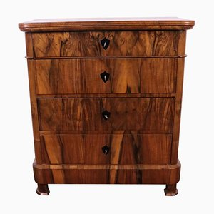 Antique Biedermeier 4-Drawer Commode