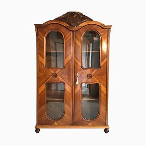 Antique Austrian Art Nouveau Book Cabinet or Armoire