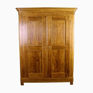 Antique Biedermeier Oak Wardrobe, 1860s