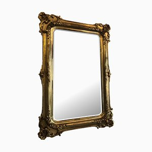 Antique Gilded Wood Florentine Mirror