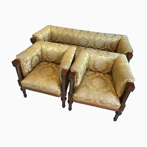 Antique Empire Style Classicism Seating Group Furniture