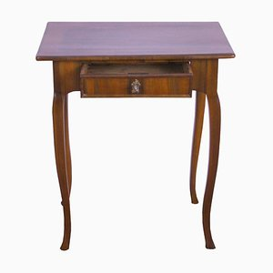 Antique German Biedermeier Walnut Side Table