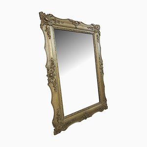 Large Biedermeier Antique Wall Mirror