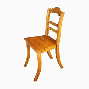 Antique Biedermeier Cherry Living Room Chairs, Set of 6