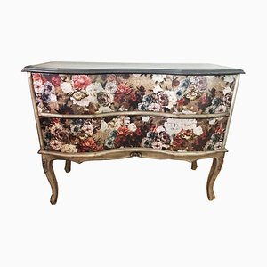Antique Baroque Style Floral Painted Chest of Drawers
