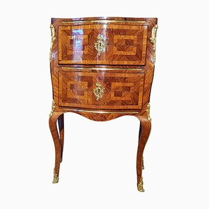 Antique Rococo Rosewood & Marble Commode