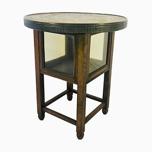 Antique Historicism Side Table with Egyptian Hieroglyphics, 1910s