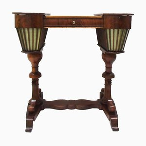 German Biedermeier Mahogany Sewing Table, 1830s