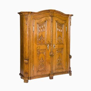 Antique Carved Limewood Cabinet