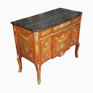 19th-Century Rosewood Commode with Marble Top