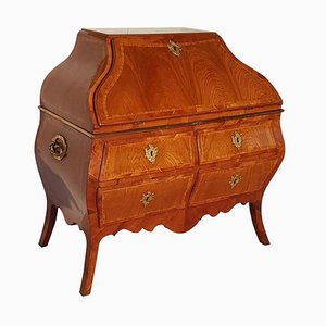 Antique Rococo Softwood Secretaire